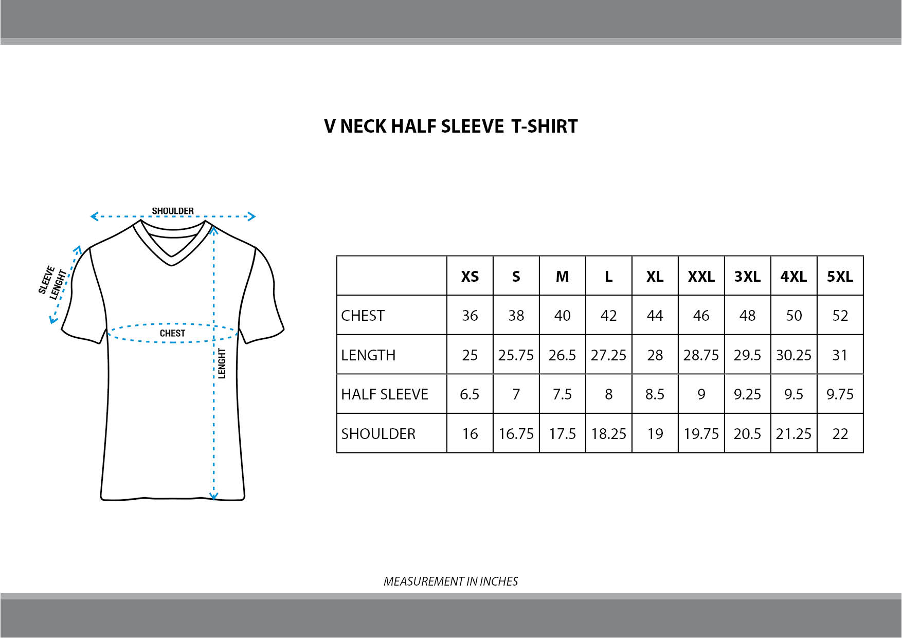 AOP V Neck Half Sleeve T-shirts